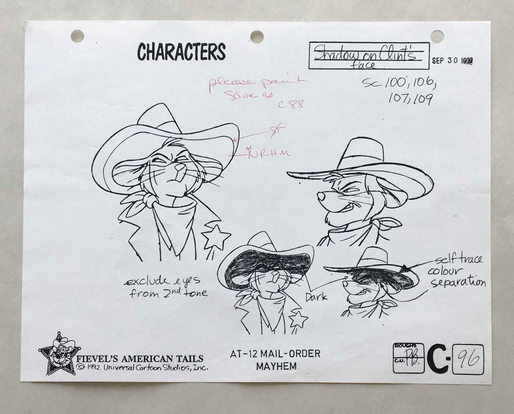 Fievel's American Tails 1 (EX0377) - Animation Legends