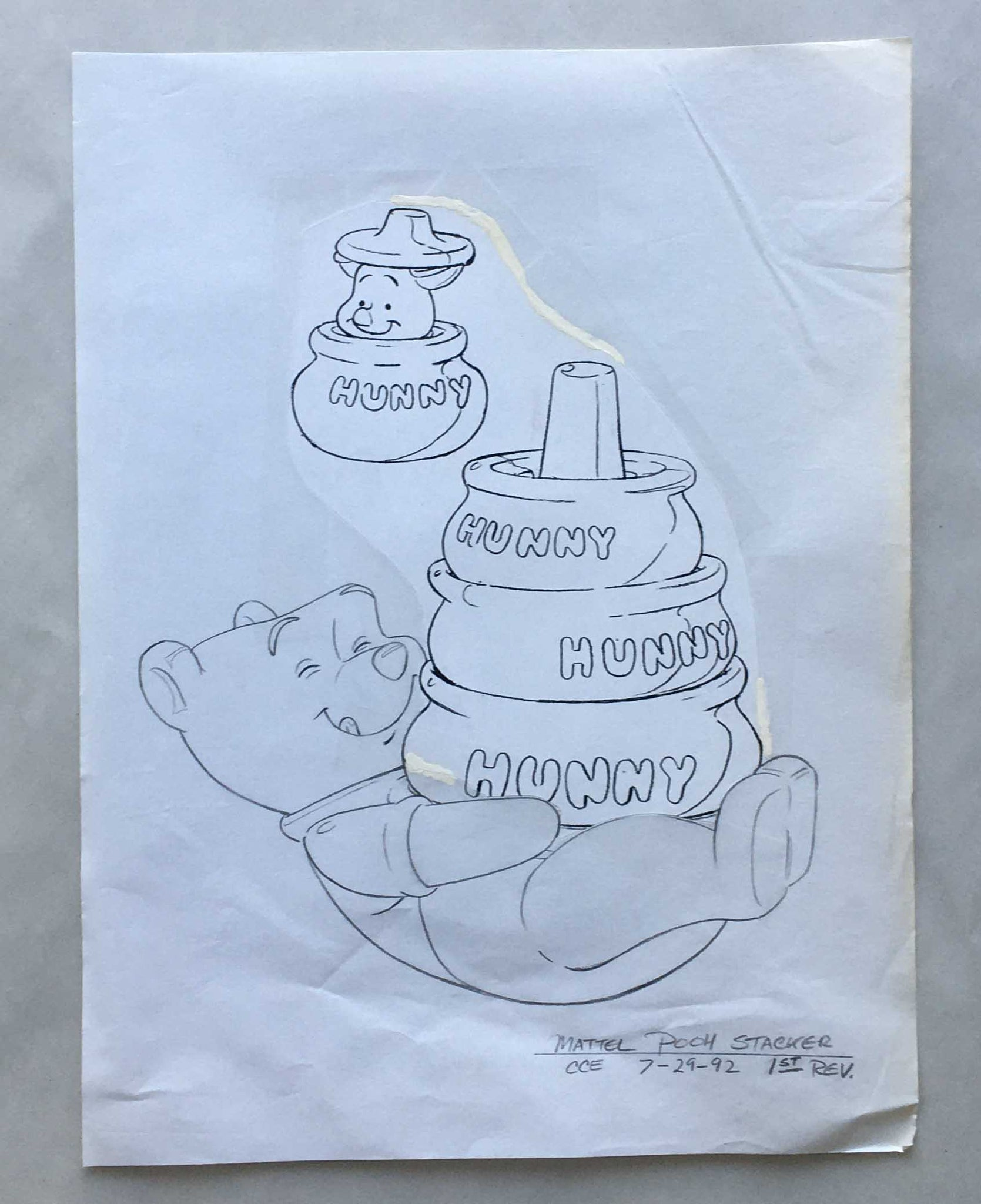 Winnie the Pooh Mattel Toy Sketch (EX0291) - Animation Legends