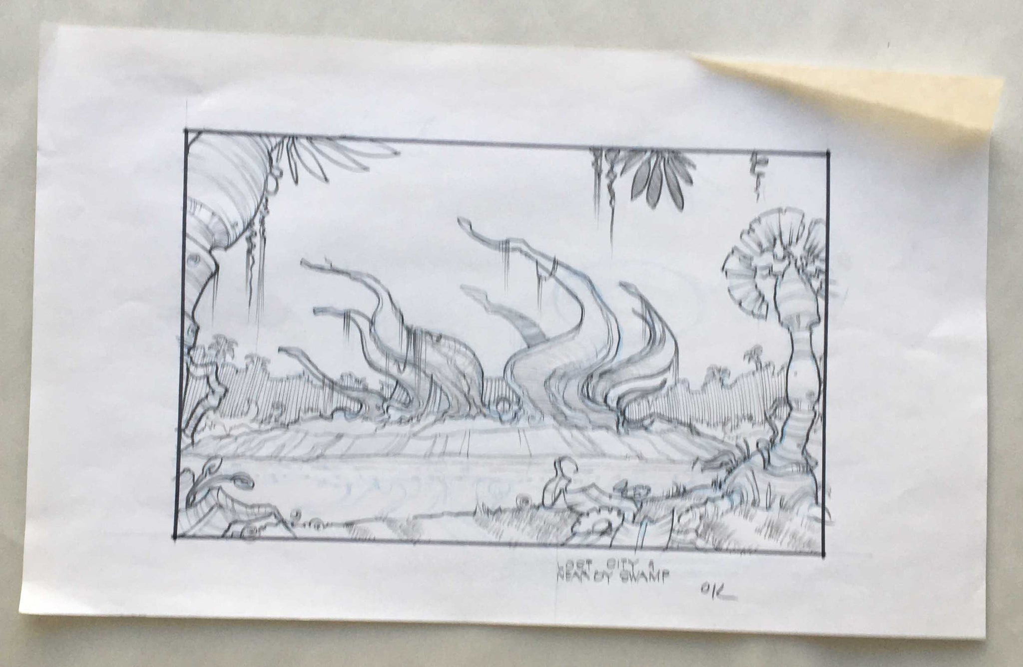 Donkey Kong Country Lost City Sketch Art (EX0258) - Animation Legends