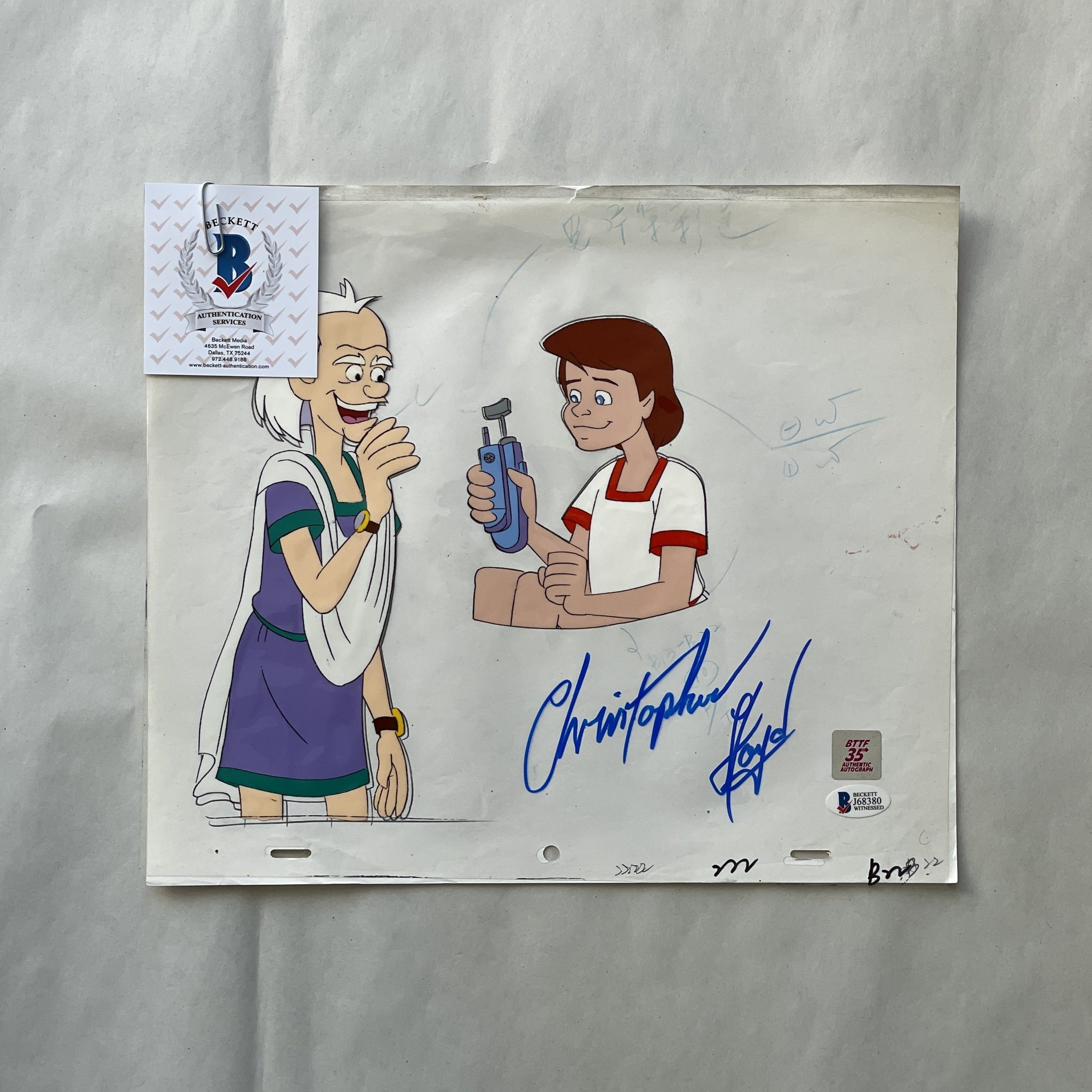 Doc Cel Signed by Christopher Lloyd 79 (EX0550) - Animation Legends