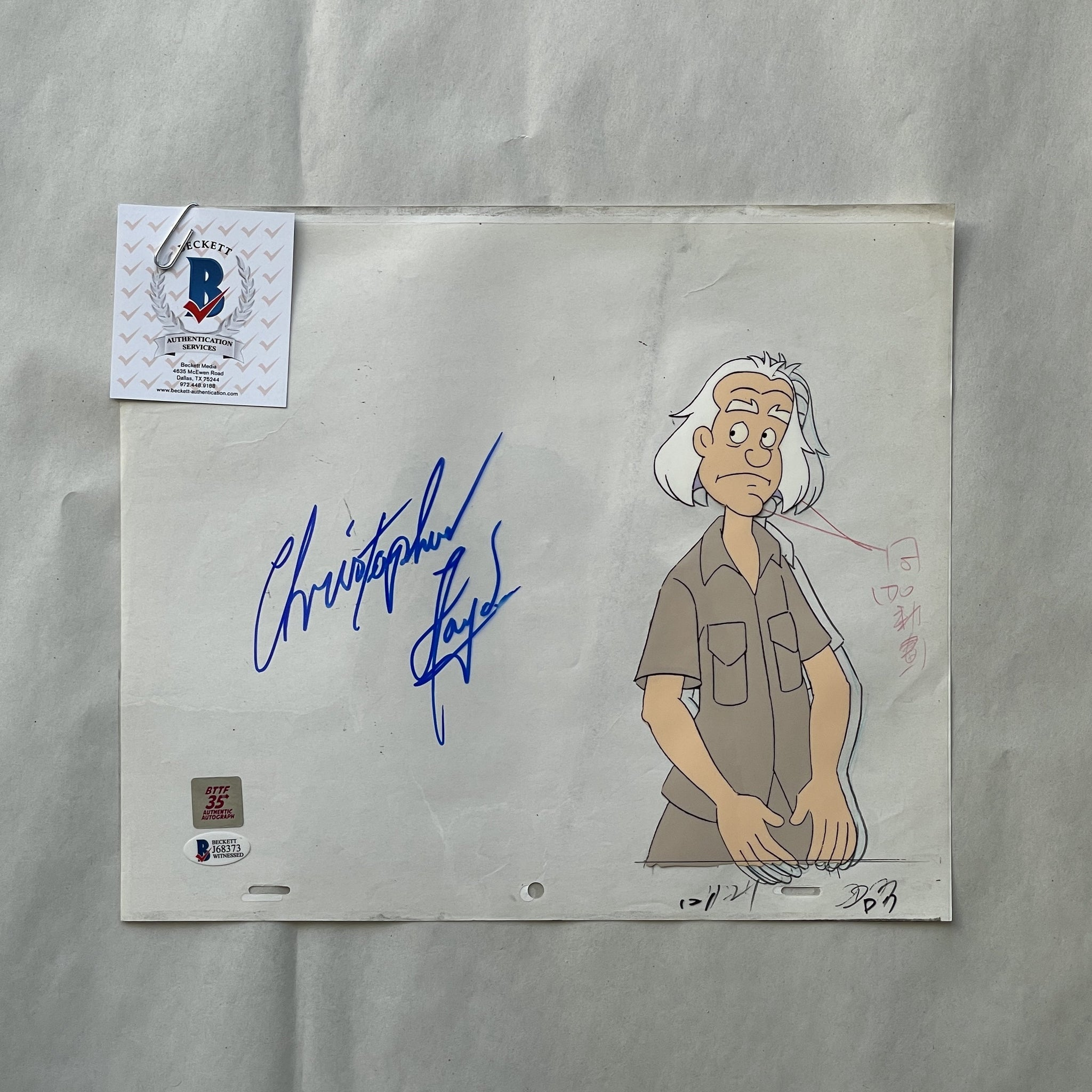 Doc Cel Signed by Christopher Lloyd 85 (EX0556) - Animation Legends