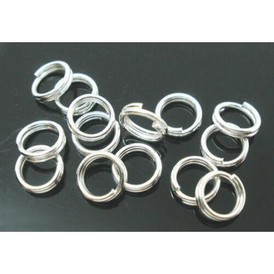 18mm J03172K Open Extra Large Findings Silver Plated 50 Jump Rings