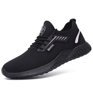 Hot Mens Running Lightweight Round Toe Safety Work Shoes Mesh Stylish Sneakers