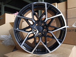 "19"" 795M G20 Sport Style Staggered Alloy Wheels Black Polished New BMW 3 4 5 Series"