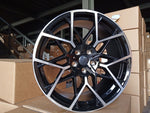 "20"" 795M G20 Sport Style Staggered Alloy Wheels Black Polished New BMW 3 4 5 Series"