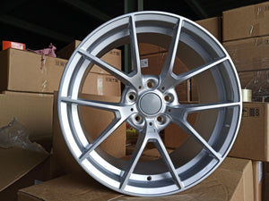 "19"" 763M M4 CS Style Staggered Alloy Wheels Silver BMW 3 4 5 6 Series"