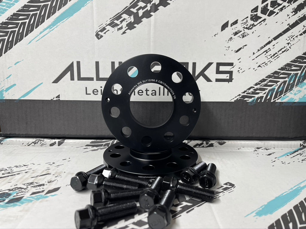 ALUWERKS MERCEDES ALLOY WHEEL FORGED PERFORMACE SPACERS AND BOLTS