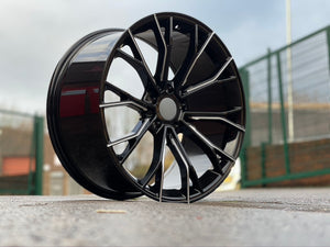"20"" G30 Performance 669M style Black Machine Milled 5x120 Staggered Alloy Wheels Black Polished BMW 3 5 6 7 Series"