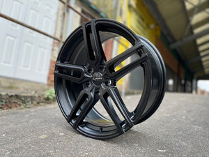 "18"" Aluwerks TW5 wheels Magneto Black fits Audi BMW Mercedes VW Ford Vauxhall"