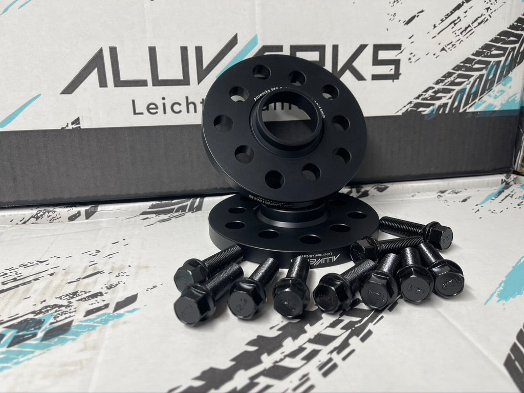ALUWERKS VOLKSWAGEN/AUDI ALLOY WHEEL FORGED PERFORMACE SPACERS AND BOLTS