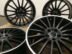 "19"" C63 style wheels Black polished lip 5x112 fits Mercedes Benz"
