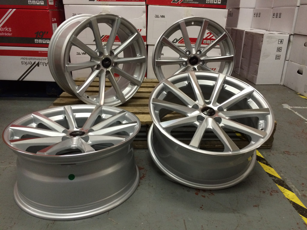 "19"" Aluwerks Eclipse Super Concave silver polished wheels"