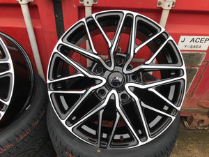 "20"" Aluwerks RTT wheels Black Polished fits Audi BMW Mercedes VW Ford Vauxhall high load"