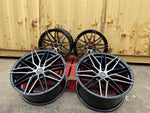 "19"" Aluwerks Tokura wheels Black Polished fits Audi BMW Mercedes VW Ford Vauxhall"
