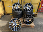 "18"" Aluwerks DTM wheels Gloss Black Machined fits Audi BMW Mercedes VW Ford Vauxhall"