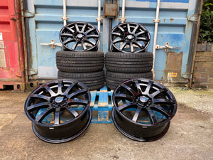"17"" 3Sixty Force10 Gloss Black VW Transporter T4 T5 T6 Vivaro Trafic 850kg"