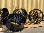 "22"" Aluwerks EL33 wheels Gloss Black fits Audi BMW Mercedes VW Ford Vauxhall"