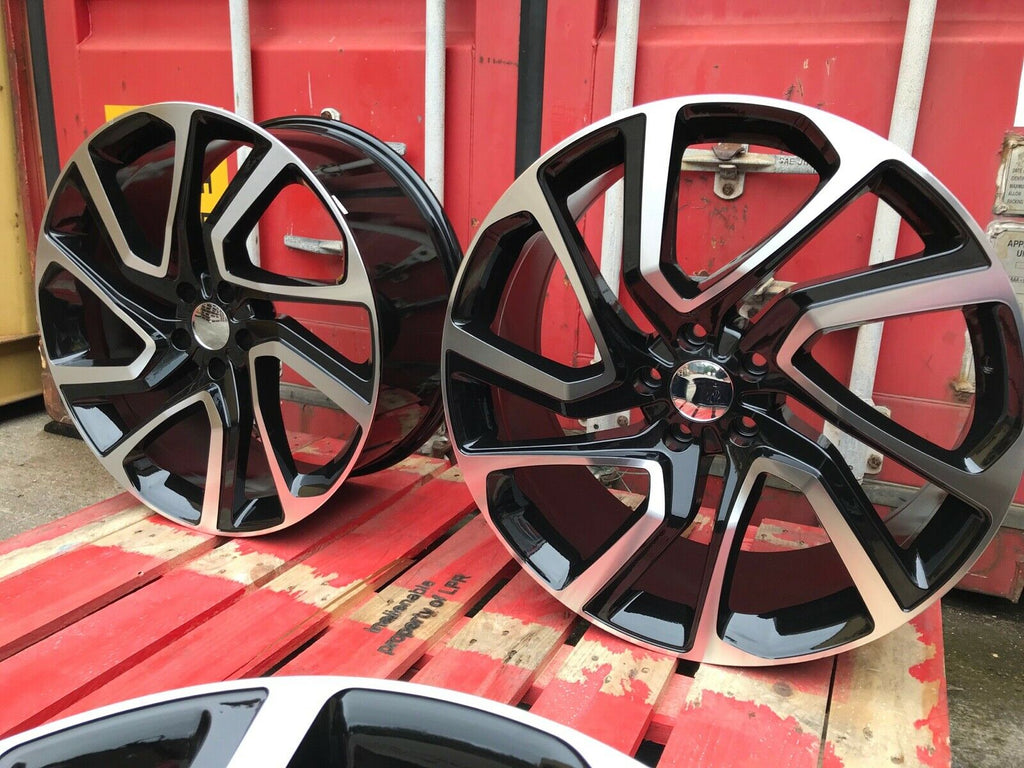 "22"" Autobiography style wheels black polished 5x120 Fits Land Rover"