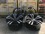 "19"" Aluwerks GTS wheels Black Polished fits Audi BMW Mercedes VW Ford Vauxhall"