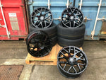 "20"" Aluwerks DTM wheels Gloss Black fits Audi BMW Mercedes VW Ford Vauxhall 8.5J and 9.5J"