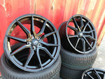 "22"" Aluwerks Spyder wheels Gloss Black fits Audi BMW Mercedes VW Ford Vauxhall"