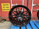 "19"" 666M Competition Style Staggered Alloy Wheels Black  BMW 3 4 5 Series"