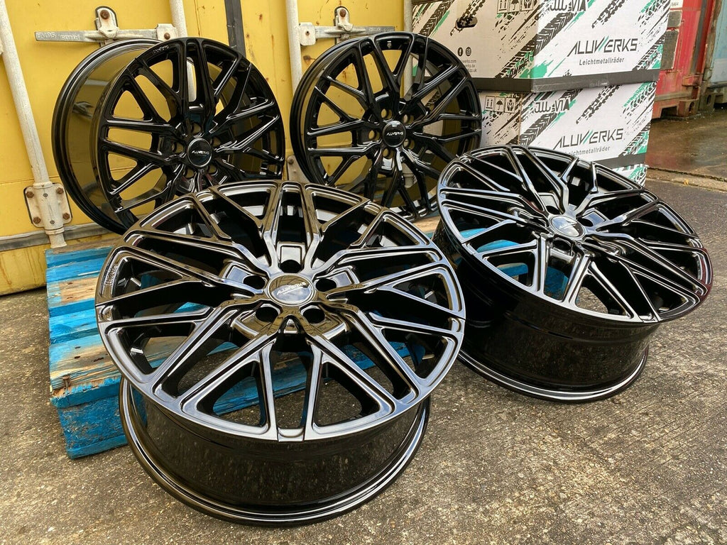 "20"" Aluwerks RTT wheels Gloss Black fits Audi BMW Mercedes VW Ford Vauxhall high load"