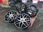 "20"" Aluwerks DTM wheels Gloss Black polished face fits Audi BMW Mercedes VW Ford Vauxhall"