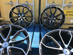 "19"" SQRS5 style wheels Black Polished 5x112 fits Audi"