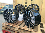 "19"" Santiago Gti Golf style wheels Black Polished 5x112 fits Volkswagen"