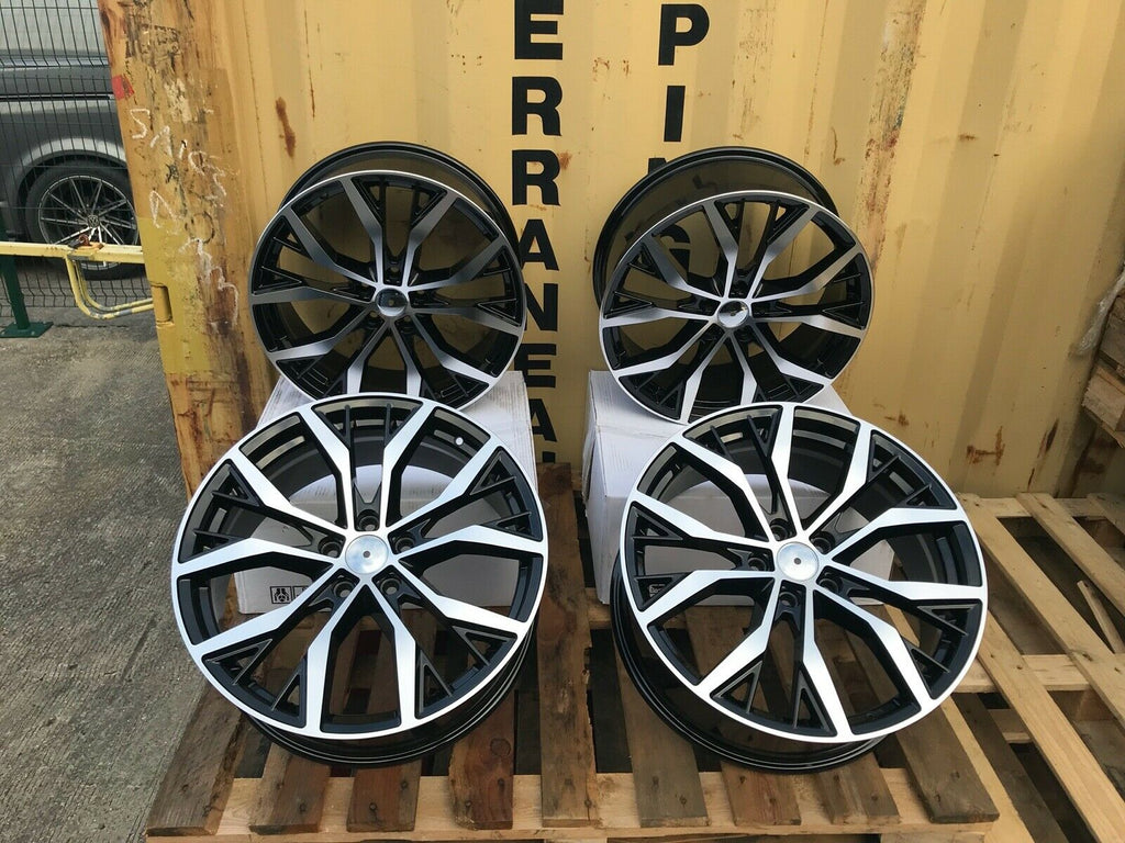 "18"" Santiago Gti Golf style wheels Black Polished 5x112 fits Volkswagen"