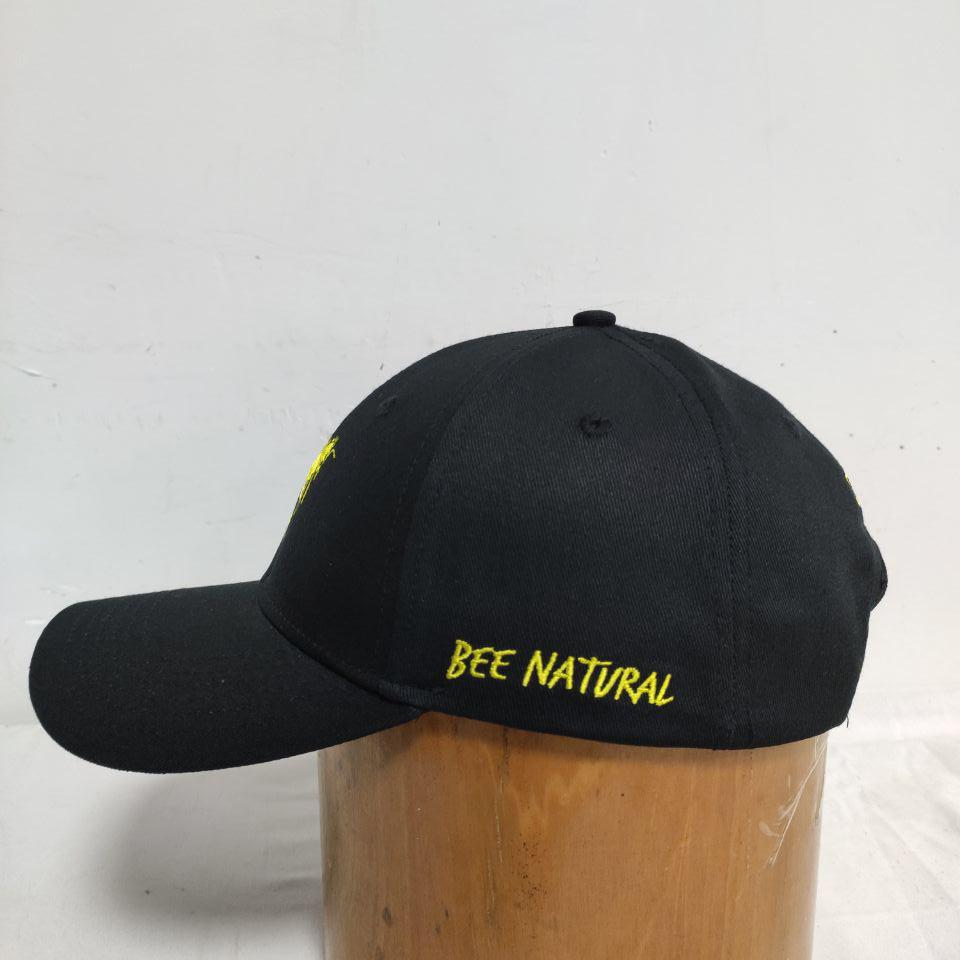 The Bee Project Baseball Cap Yellow Embroidery