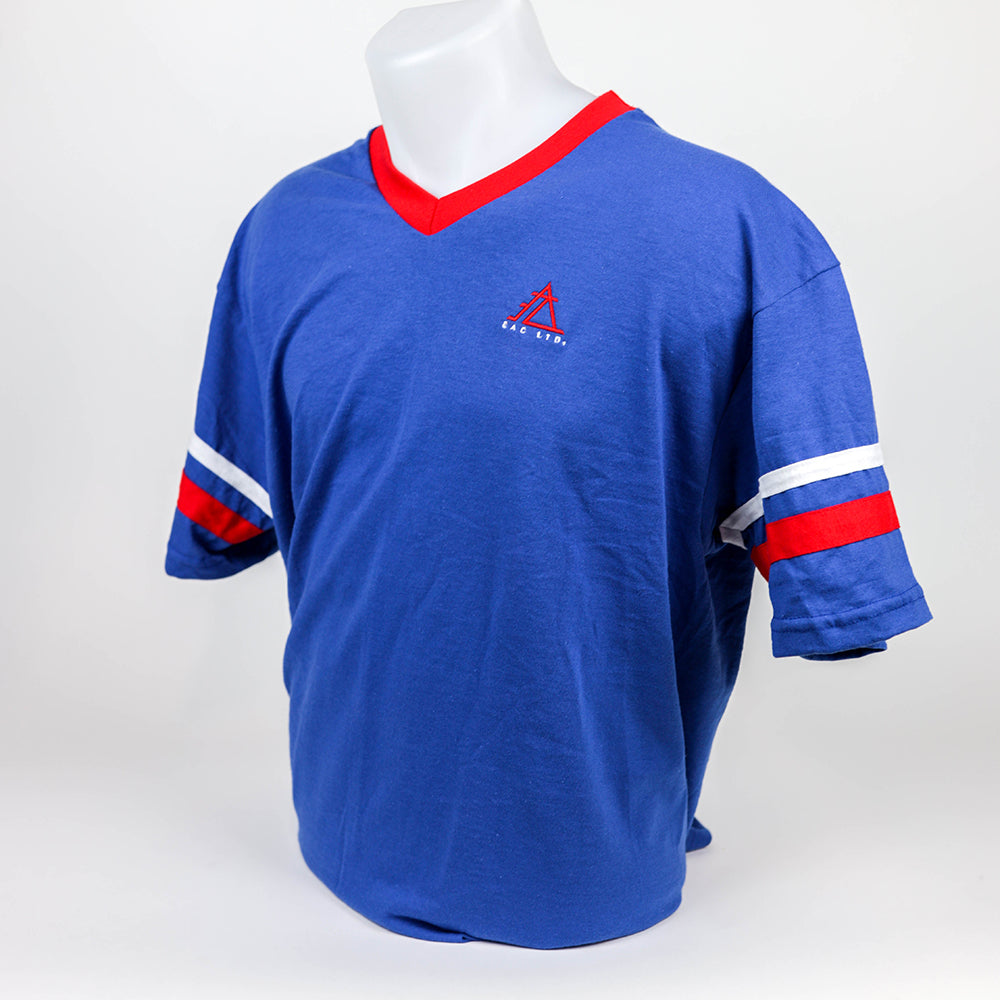 The Retro Jersey | EAC LTD - Royal with Red and White Contrast