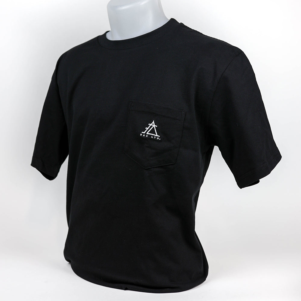 The Everyday Pocket Tee | EAC LTD. - Black with Black Pocket