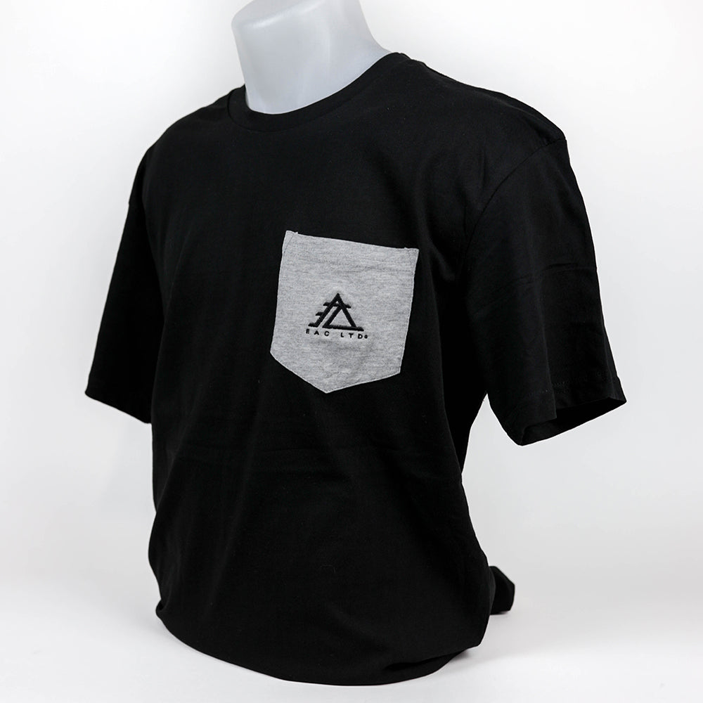 The Everyday Pocket Tee | EAC LTD. - Black with Athletic Heather Pocket