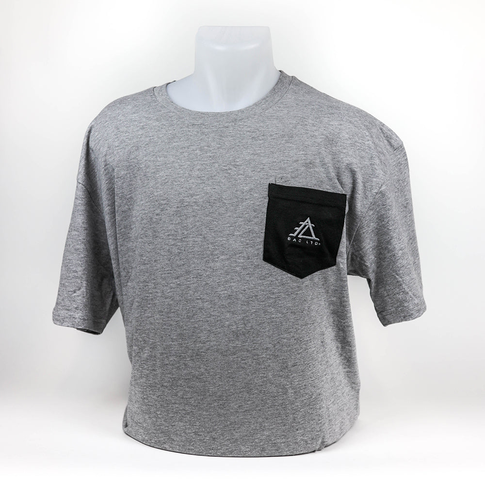The Everyday Pocket Tee | EAC LTD. - Athletic Heather with Black Pocket