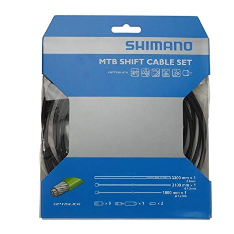 Shimano XT M8000 MTB Gear Cable Set, Optislick Coated Inners