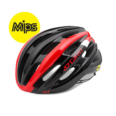 Giro Foray MIPS Road Helmet 2018 Bright Red/white/black S 51-55cm
