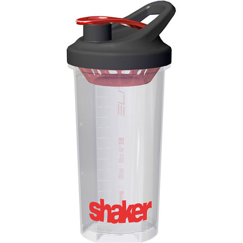 Elite Shaker Bottle 700 Ml -  in Clear & Red