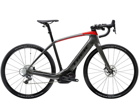 Trek Domane+ 2019, 52cm, Matte Black/Gloss Red