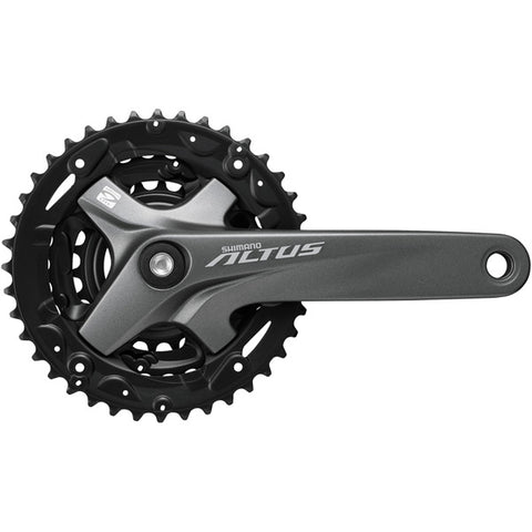 Shimano FC-M2000 Altus chainset with guard, square taper, 40 / 30 / 22T