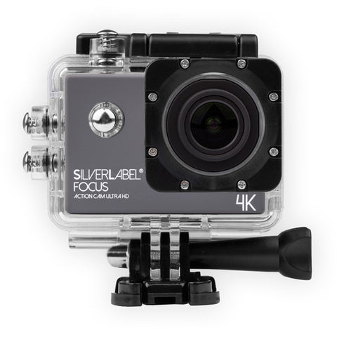 Silverlabel Focus Action Camera 4k -  in Silver & Black