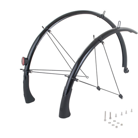M:Part Primoplastics Mudguards, Stainless Fittings -  in Black