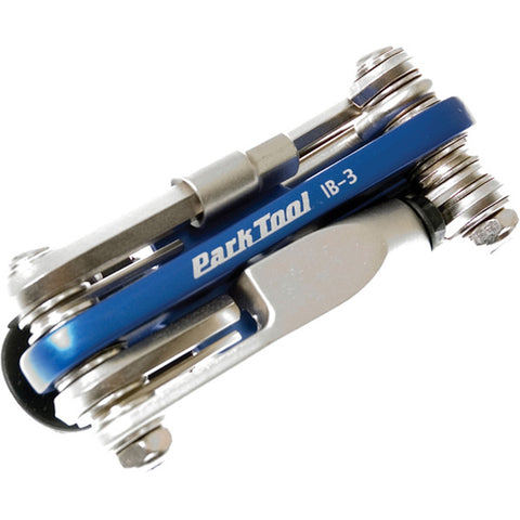 Park Tool Ib-3 - I-beam Mini Fold-up Hex Wrench Chain Tool Screwdriver & Star-shaped Wrenc