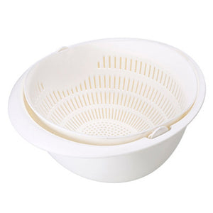 2-in-1 Kitchen Bowl and Drainer