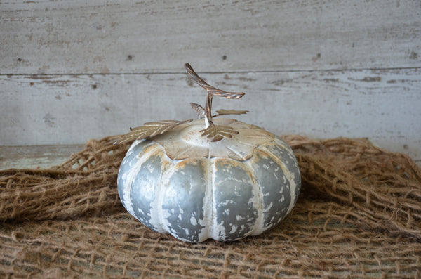 Round Metal Work Pumpkin