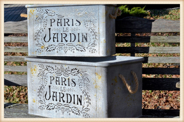 Jardin Rope Handle Tubs S/2