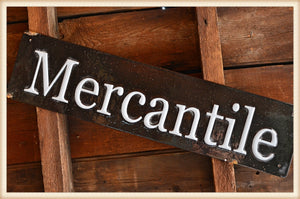 Real Enamel Mercantile Sign
