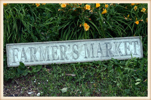 Stamped Farmers Market Sign