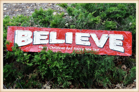 Believe Sign - Seasonal-Holiday